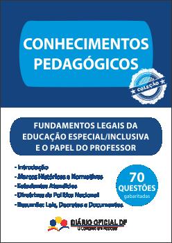 apostila SEDF Educacao Especial Inclusiva Papel Professor FLEEIPP capa - Concurso SEDF 2016: Inscrições abertas para Professor, Analista, Técnico e Monitor, são 2,9 mil vagas