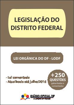 apostila SEDF Lei Organica DF LODF capa - Professor Temporário SEDF 2016: Inscrições abertas