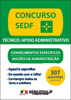 apostila SEDF Nocoes Administracao NA capa - Concurso SEDF 2016: Baixe grátis o Edital Verticalizado