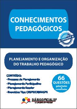 apostila SEDF Planejamento Organizacao Trabalho Pedagogico POTP capa - Professor Temporário SEDF 2016: Saiu o edital para contratação temporária da Rede Pública de Ensino do DF