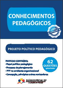 apostila SEDF Projeto Politico Pedagogico PPP capa - Concurso SEDF 2016: Saiu o edital para os cargos de Professor, Analista, Técnico e Monitor, são 2,9 mil vagas