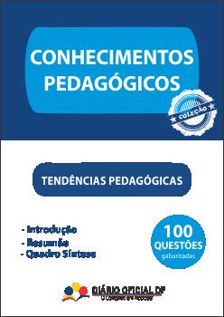 apostila SEDF Tendencias Pedagogicas TP capa - Professor Temporário SEDF 2016: Saiu o edital para contratação temporária da Rede Pública de Ensino do DF