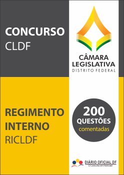 simulado CLDF Regimento Interno RICLDF capa - Concurso CLDF 2017: TCDF julgará concurso da Câmara Legislativa na terça (24)