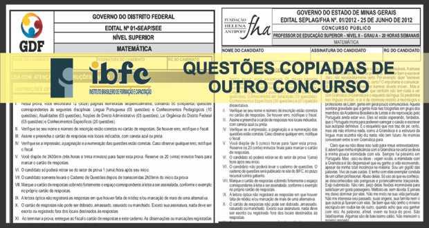 IBFC copia questões de outro concurso para SEDF – atualizado 12/12/2013