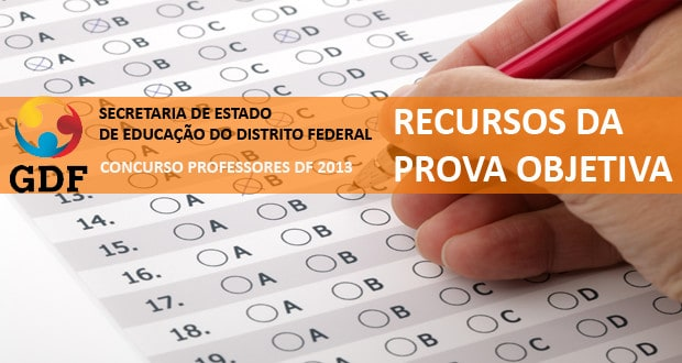 Concurso do IBFC para SEDF: Recursos da prova objetiva