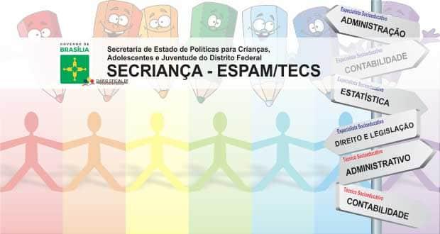 Concurso SECRIANÇA-DF 2015: Universa divulga resultado preliminar da prova objetiva para Especialista e Técnico Socioeducativo