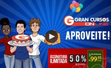 Cupom de 50% de Desconto no Gran Cursos Online