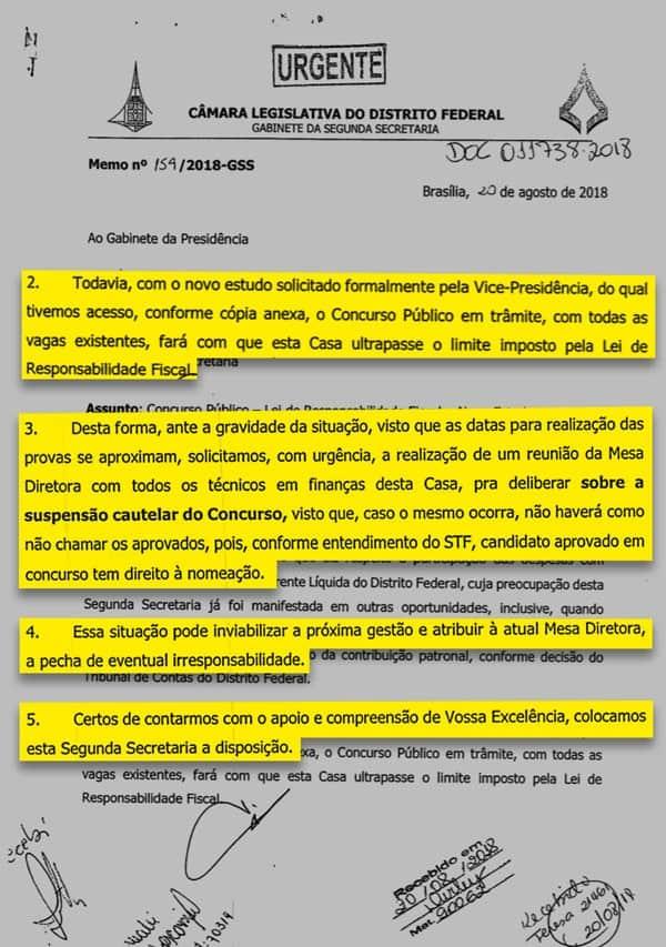WhatsApp Image 2018 08 29 at 20.09.54 - Concurso CLDF 2018: Secretaria da Câmara pede suspensão do concurso