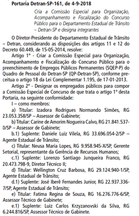 concurso detran sp 2018 comissao - Concurso Detran SP: FCC definida para organizar concurso com 575 vagas!