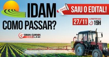 como passar saiu o edital idam - Concurso IDAM: Inscrições Prorrogadas para 227 vagas com iniciais de até R$ 6,5 mil!
