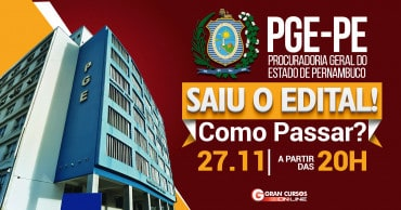 como passar saiu o edital pge pe - Concurso PGE PE Servidor 2018: SAIU o Edital com 88 vagas. Iniciais de até R$ 3,8 mil!