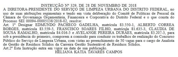 concurso slu df 2019 comissao interna - Concurso SLU DF 2019: Edital está previsto para janeiro de 2019. São 150 vagas!