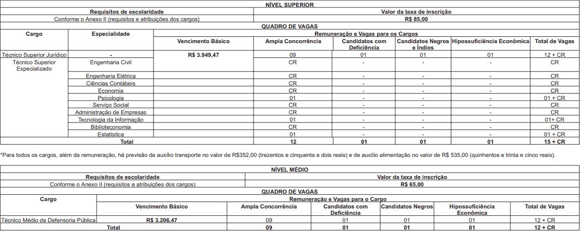 CARGOS Concurso DPE RJ 2018 2019 - Concurso DPE RJ 2018/2019: SAIU o Edital para 27 vagas para níveis médio e superior!