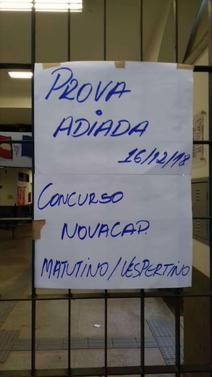 WhatsApp Image 2018 12 16 at 08.44.42 - Concurso Novacap DF: Problema em Planaltina pode ter causado suspensão de prova