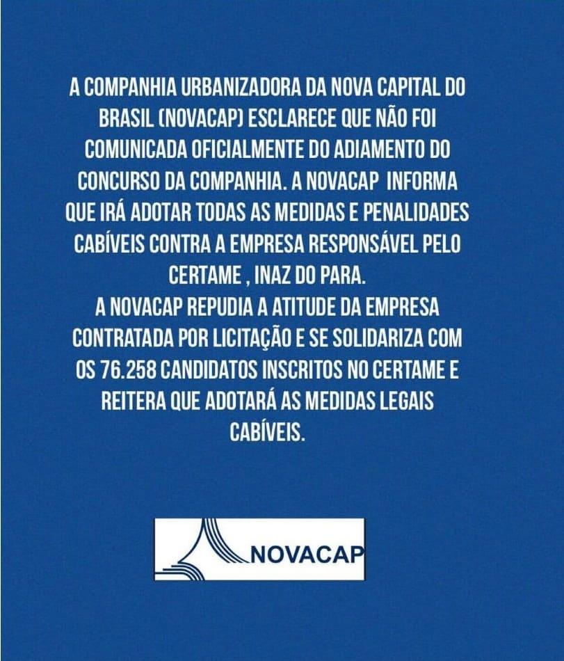 WhatsApp Image 2018 12 16 at 13.23.47 - Concurso Novacap DF: Problema em Planaltina pode ter causado suspensão de prova