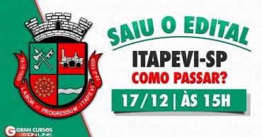 como passar itapevi sp saiu o edital - Concurso Prefeitura de Itapevi SP: Inscrições Encerradas