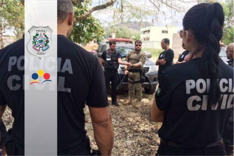 Concurso Polícia Civil-ES (PC ES): Cartão de informação com horário e local de prova