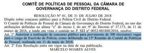 concurso policia civil pcdf 2019 autorizacao - Concurso Polícia Civil PCDF 2019: Edital para Escrivão em definição da organizadora! Até R$13.751,51!