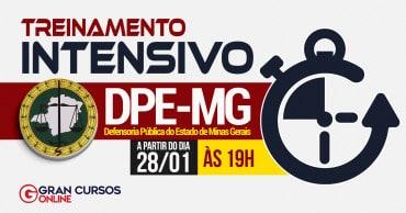 treinamento intensivo dpe mg - Concurso DPE MG: Inscrições Até amanhã (25) para 30 vagas para Defensor Público. Iniciais de R$ 22 mil!
