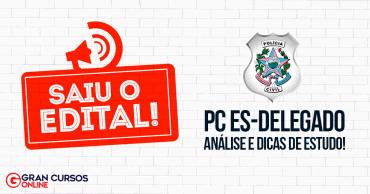 concurso pc es 2019 delegado saiu o edital - Concurso PC ES Delegado: Inscrições Encerram Hoje (24). Iniciais de R$ 10 mil!