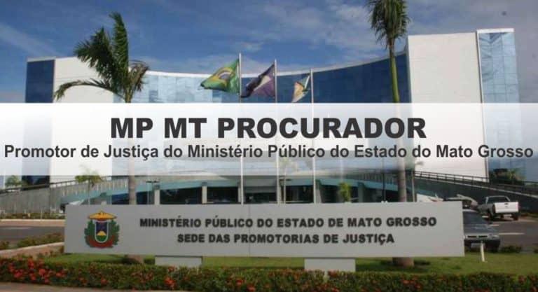 Concurso MP MT 2019: Inscrições Abertas para Promotor!