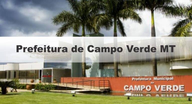 Concurso Prefeitura de Campo Verde MT: Último dia de Inscrições Abertas para 49 vagas