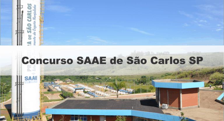 Concurso SAAE de São Carlos SP: Inscrições Abertas para 27 vagas