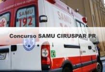Concurso SAMU CIRUSPAR PR