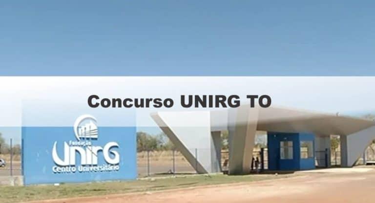 Concurso UNIRG TO 2019: Prova em outubro