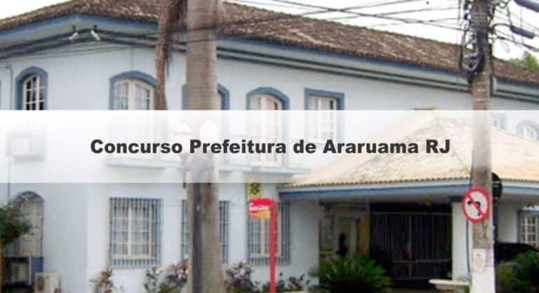 Concurso Prefeitura de Araruama RJ: Inscrições Abertas para 1.918 vagas