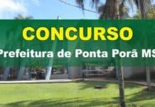 Edital Prefeitura de Ponta Porã MS