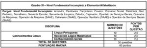 Quadro 11 concurso Prefeitura Formiga MG 300x98 - Concurso Prefeitura de Formiga-MG: Inscrições Abertas para 413 vagas de todos os níveis