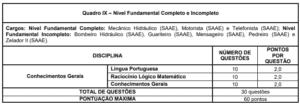 Quadro 9 do concurso da Prefeitura de Formiga MG 300x104 - Concurso Prefeitura de Formiga-MG: Inscrições Abertas para 413 vagas de todos os níveis