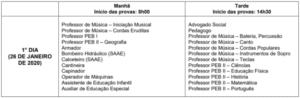 Quadro de horarios concurso Prefeitura de Formiga 1 300x98 - Concurso Prefeitura de Formiga-MG: Inscrições Abertas para 413 vagas de todos os níveis