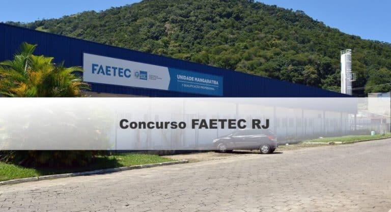 Concurso FAETEC RJ: Inscrições Prorrogadas até 15/11
