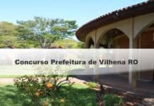 Concurso Prefeitura de Vilhena RO