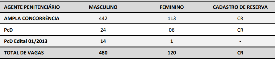 cargos concurso deap sc - Concurso Deap-SC: Inscrições até quarta (13) para 600 vagas para Agente Penitenciário