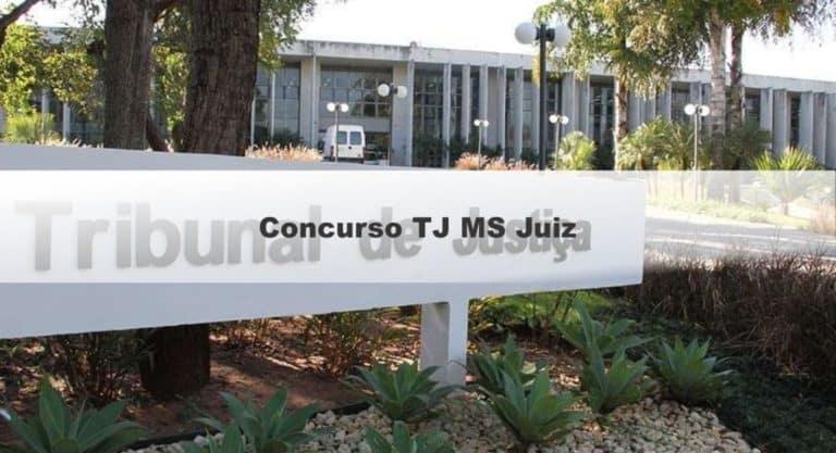 Concurso TJ MS Juiz: Saiu o Edital com 10 vagas