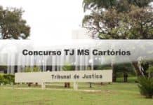Concurso TJ MS Cartórios