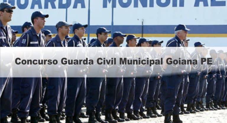 Concurso Guarda Civil Municipal Goiana PE: Inscrições abertas