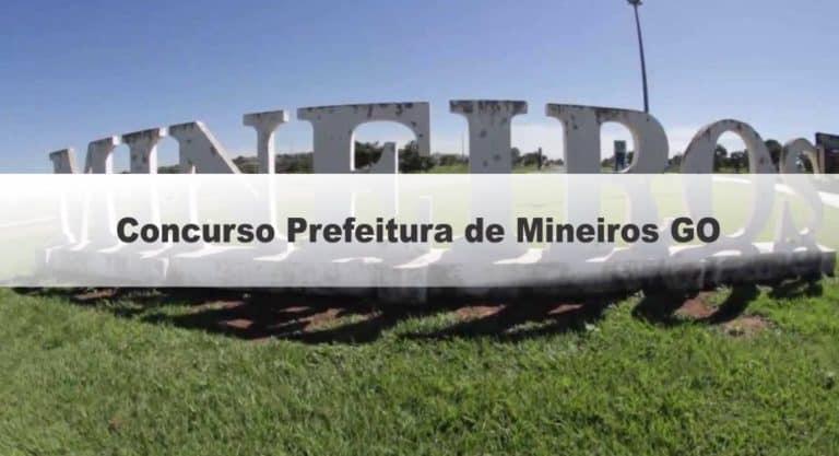 Concurso SAEE Prefeitura de Mineiros GO: Provas Adiadas