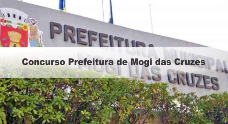 Concurso Prefeitura de Mogi das Cruzes SP com 59 vagas: Provas dias 28/03 e 04/04/21