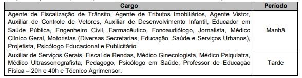 DAS PROVAS 1 - Concurso Prefeitura de Mogi das Cruzes SP com 59 vagas: Provas dias 28/03 e 04/04/21