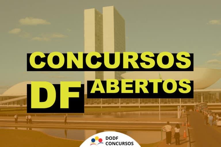 Concursos Abertos DF 2021: Confira a lista dos concursos do DF