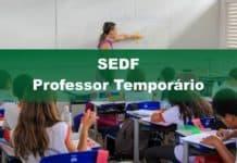 Concurso SEDF Professor Temporário 2020
