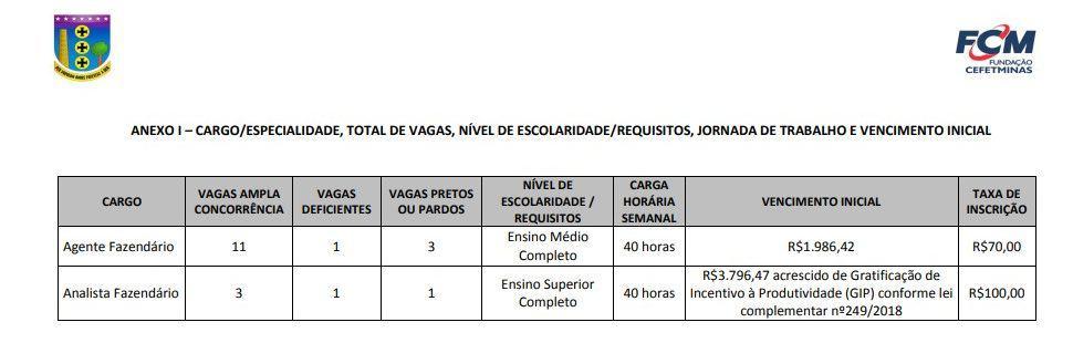 CARGOS CEFET e1581949043971 - Concurso Secretaria de Fazenda de Contagem: Suspenso o Edital para Agente e Analista Fazendário