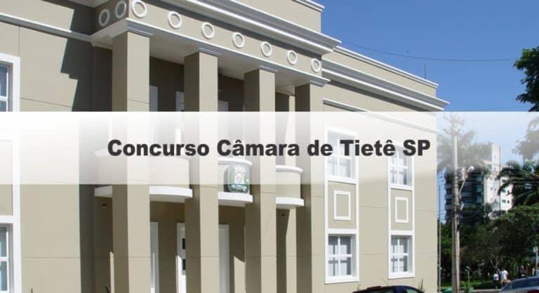 Concurso Câmara de Tietê SP: Provas em março!