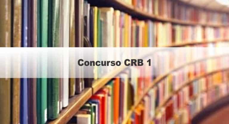 Concurso CRB 1:  inscrições Encerradas