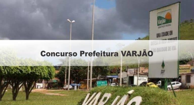 Concurso Prefeitura VARJÃO: Inscrições Encerradas. Provas em março