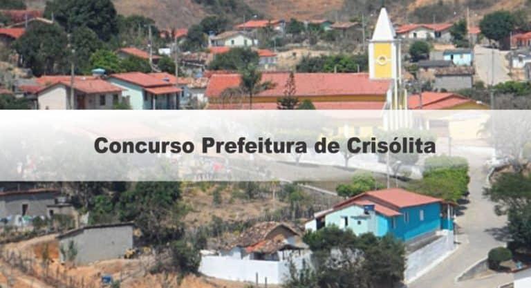 Concurso Prefeitura de Crisólita MG: Inscrições Encerradas